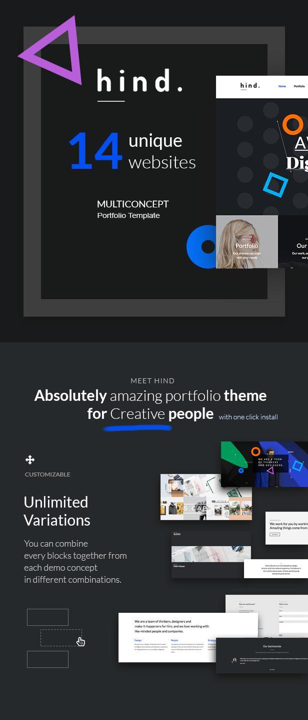 Hind - Multi-Concept Portfolio HTML Template - 2
