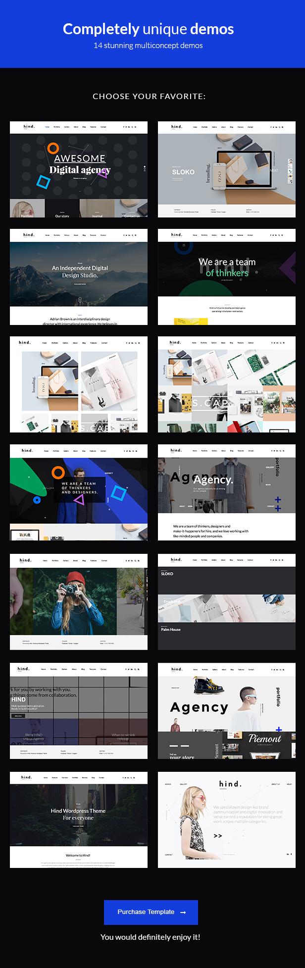 Hind - Multi-Concept Portfolio HTML Template - 3